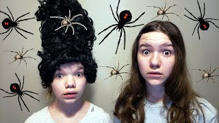 SPIDERS IN HER HAIR!