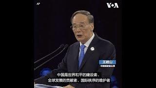 """王岐山出席巴黎和平论坛  强调""""中国是世界和平的建设者"""""""
