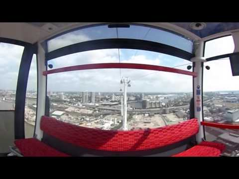 360 degree video: Emirates Air Line - ever wondered what it is like to ride it?