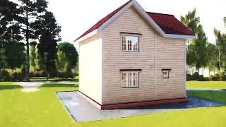 видео Д-61 Каркасный дом 7х7 м