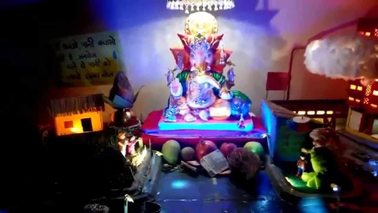 Eco Friendly Ganpati Decoration At Home 2015 Mehu Youtube