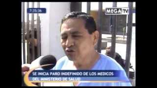 Médicos del MINSA acatan huelga indefinida. Vía Canal 45 Mega Tv.