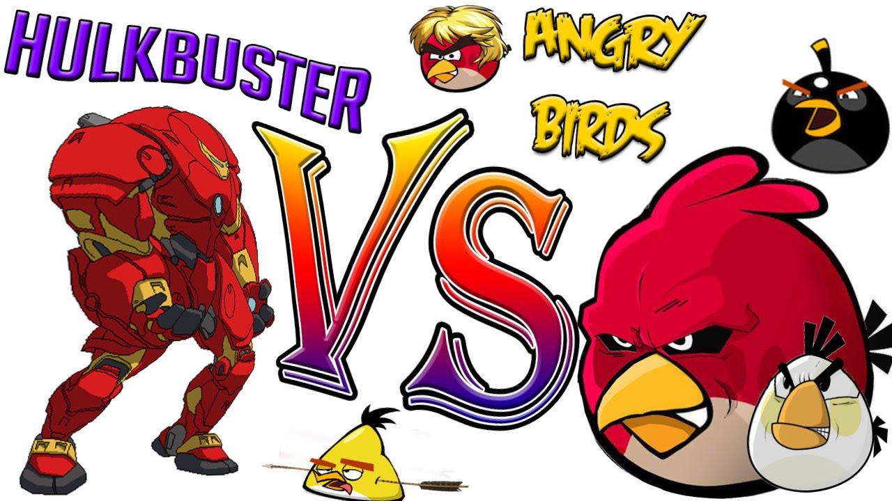 Hulkbuster Vs Angry Birds Dibujos Para Colorear