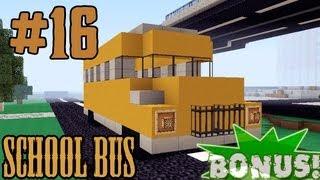 видео: Minecraft - как построить Школьный Автобус? (Bonus #16)