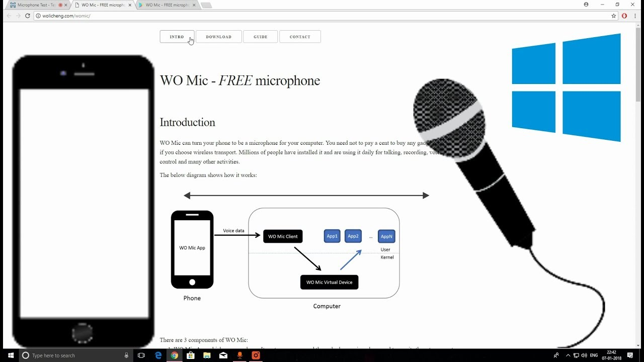 Use Your Smartphone As A Mic For Pc In 1 Minute Youtube