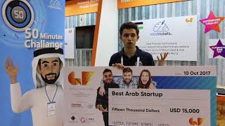 Best Arab Startup award went to Mind Rockets- GFS Supernova Pitch Competition 2017
