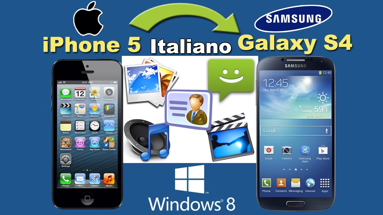 copiare rubrica da iphone a samsung galaxy note 7