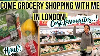 Come Grocery Shopping with me in LONDON! Cost,Haul,Favourites etc || Waitrose ||