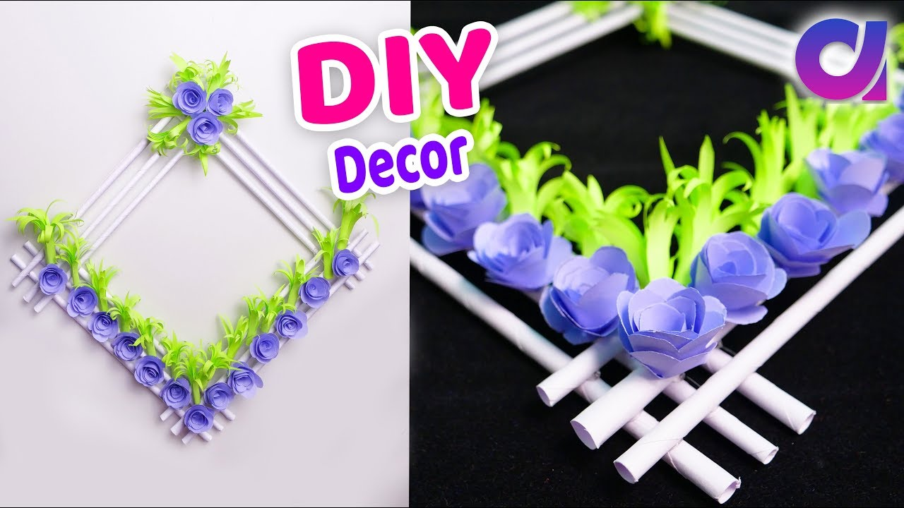 Diy Paper flower wall hanging | Wall Decoration ideas Easy paper flower wall hanging | Artkala