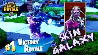 MI PRIMERA VICTORIA CON LA EXCLUSIVA *SKIN GALAXY*  || Fortnite: Battle Royale