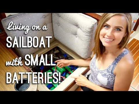 Living on a Boat with Small Batteries (Our Electric / Solar