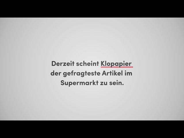 Hamsterkäufe - kurz erklärt