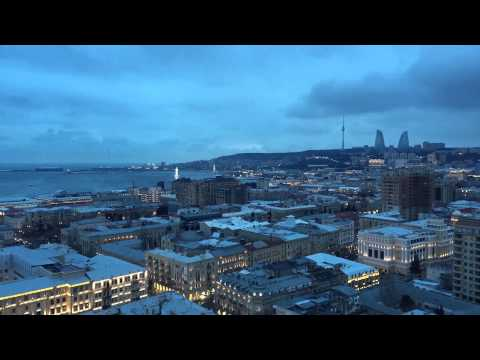 Baku, Azerbaijan (city view) February 2015 (TimeLapse)