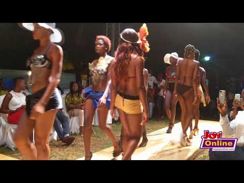 Hot models hit the runway at Africa bikini fashion show