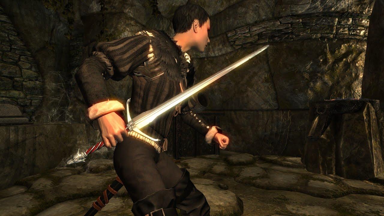 Скачать мод на мечи ведьмака на скайрим