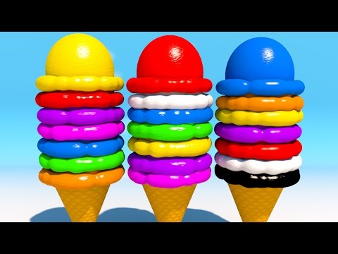 Thumbnail: Learning Colors with 3D Ice Cream Balls for Children