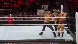 Lana dances along with Fandango (Rusev vs Fandango) - WWE Raw, May 4, 2015