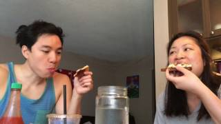 Lea & Chris Eat - Lazy Home Breakfast with a big burp - mini mukbang