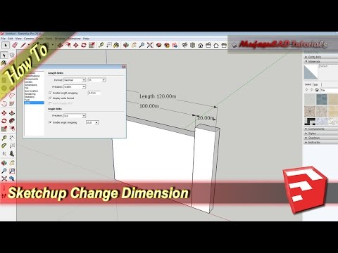 Sketchup How To Change Dimension