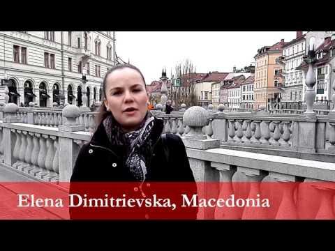 Elena Dimitrievska, student from Macedonia at the University of Ljubljana