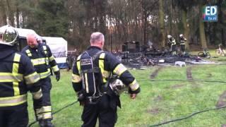 Caravan uitgebrand op Camping de Paal in Bergeijk