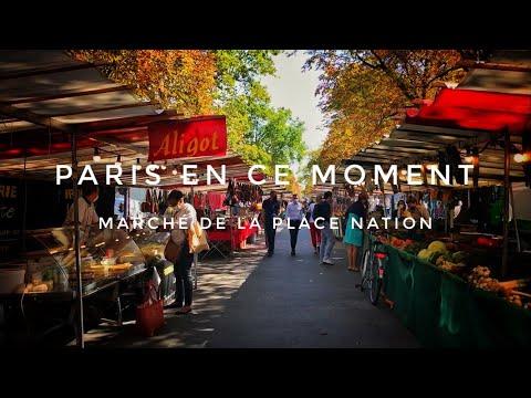WALK IN PARIS ( MARCHÉ DE LA PLACE NATION ) 09/09/2020 PARIS 4K