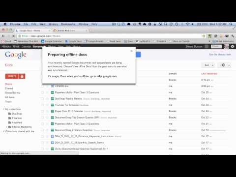 How to open google docs offline
