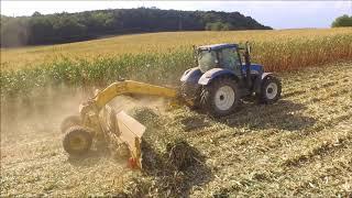 Ensilage maïs épis - ramassage paille de maïs - GAEC du Mont du Ciel - New Holland - Claas