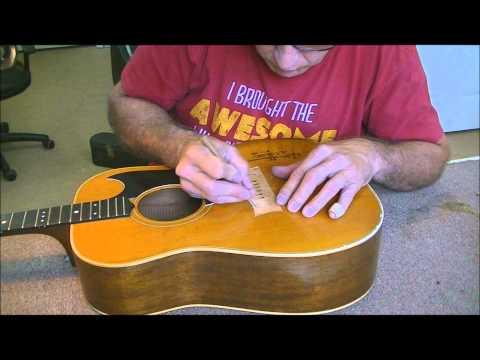 070 RSW Billy Grammer Guitar Bridge and Pickguard Repair