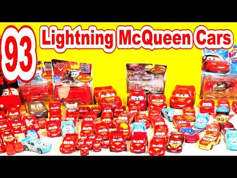 🚗 🚗 93 Lightning McQueen Race Cars in Collection from Disney Pixar Cars Cars2 and Cars Toons🚗 - 동영상