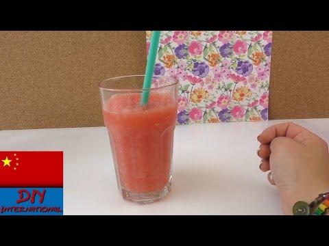 DIY 自制 用新鲜西瓜 制作 西瓜 冰沙 刨冰  纯手工  (无需刨冰机) 展示