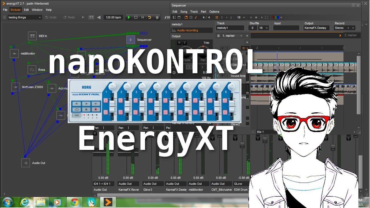 Korg nanoKONTROL EnergyXT live performance - Geeky Gigs #5