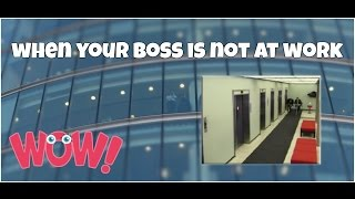 When your boss is not at work epic fail ★ 7 second of happiness FUNNY 