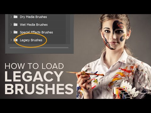 How To Load Legacy Brushes In Photoshop CC 2019 / CC 2020