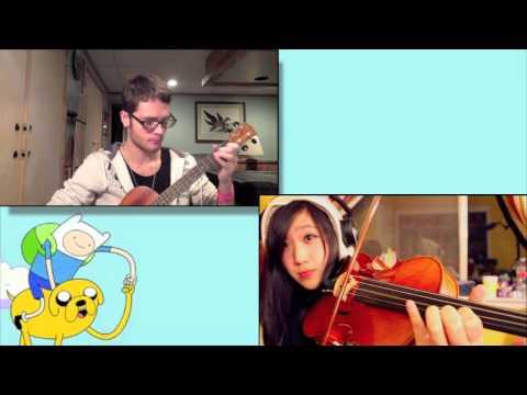 Adventure Time Theme Song (ukulele and viola) ft. 8BitBrigadier