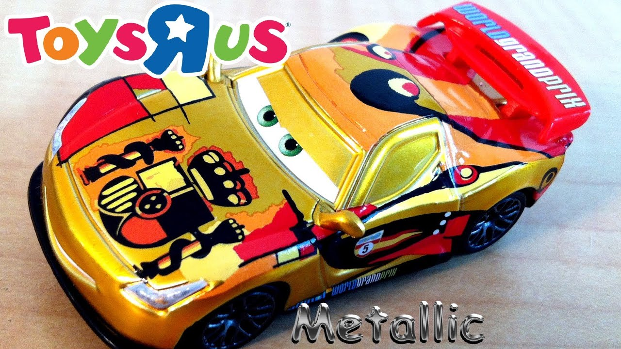 Cars 2 metallic miguel camino toys r us tru diecast toy for Bureau cars toys r us