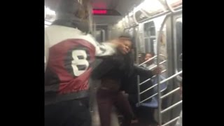 Man Smacks The Soul Out Of Girl That Was Clowning Him On The NY Subway REVIEW!!!