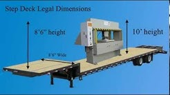 Step Deck Dimensions