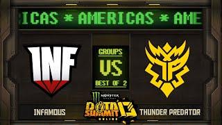 Infamous vs Thunder Predator Game 2 - Monster Energy Dota Summit 13 Online NA/SA: Groups