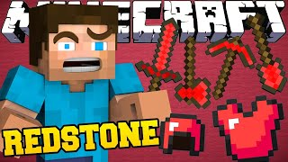 CRAFTING RED STONE TOOLS in MINECRAFT