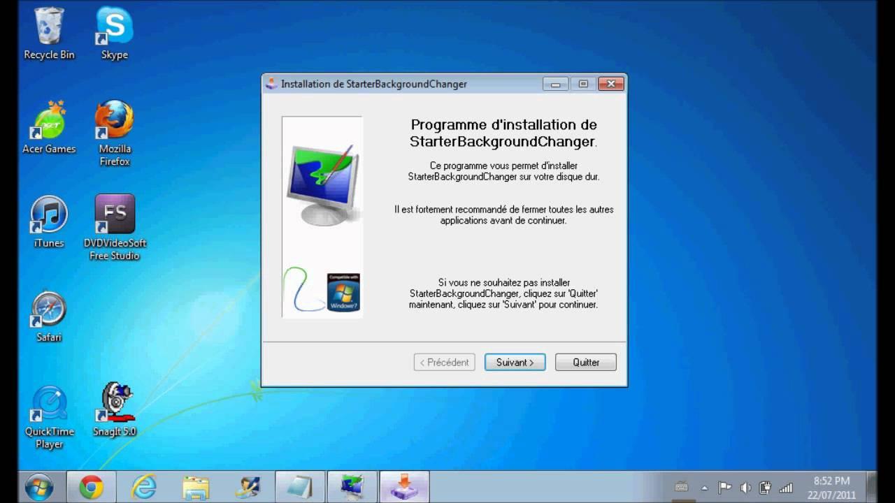 how to change windows 7 starter desktop EASY YouTube