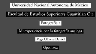 Mi experiencia con la fotografía análoga - Vega Daniel