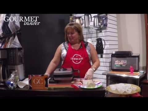 Lori Wilson Demonstrates Croquade's New Belgium Waffle Maker