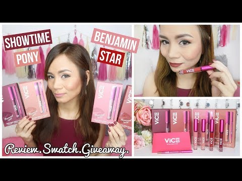 VICE COSMETICS Phenomenal Lip Kit Review & Swatches + GIVEAWAY!!! ❤ (not sponsored)