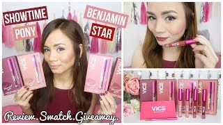 VICE COSMETICS Phenomenal Lip Kit Review & Swatches + GIVEAWAY!!! ❤