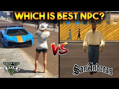 WHICH IS BEST NPC? (GTA 5 AI VS GTA SAN ANDREAS AI)