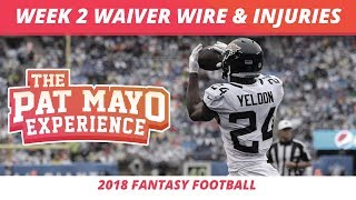 2018 Fantasy Football — Week 2 Waiver Wire Rankings, Injuries, Recap + More