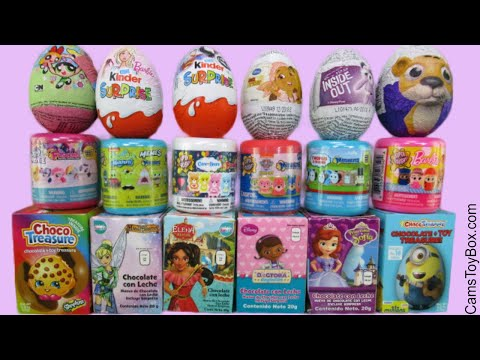 Chocolate Surprise Eggs Kinder Mashems Fashems SpongeBob Disney Sofia Powerpuff Girls Toys