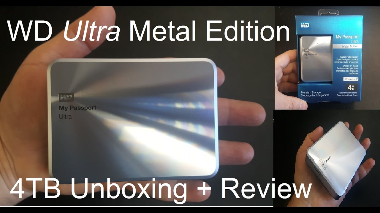 Unboxing the Western Digital WD My Passport Ultra Metal Edition Hard Drive  and Review - USB 3 0