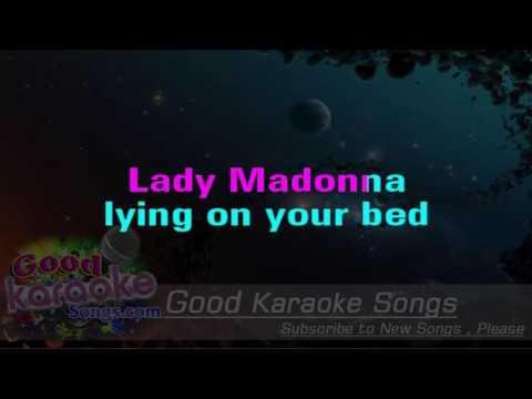 Lady Madonna -  The Beatles ( Karaoke Lyrics )